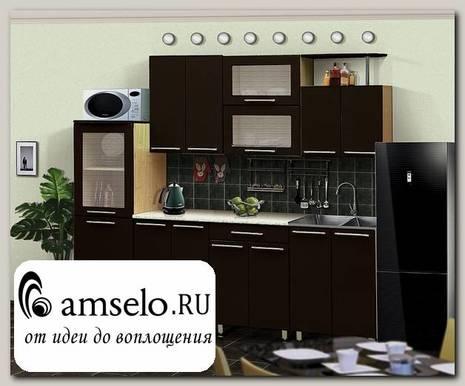 """Кухня 2,3 №14 """"Дольчетто"""" (МДФ глянец) (Дуб/Шоколад глянец)"""