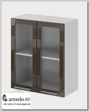 """Шкаф 600 decor """"Бруско"""" (МДФ) (Шоколад/Стекло) /ИЦMkk/ШВС600"""