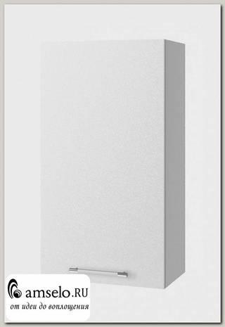 """Шкаф высокий 500""""Лакрима"""" (МДФ металлик) (Белый)"""