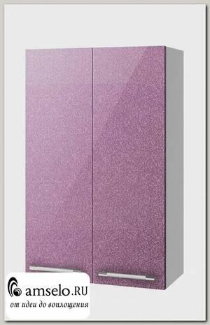 """Шкаф высокий 600""""Лакрима"""" (МДФ металлик) (Сирень)"""