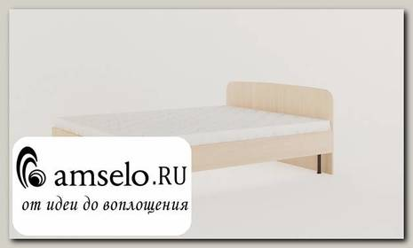 """Кровать 1600 с ортопед.осн-ем """"Рики"""" (Белёный дуб)"""