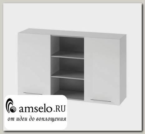 "Шкаф 1200 комб.""Бруско"" (МДФ металлик) (Белый)"