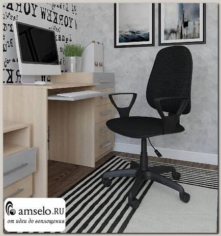 """Кресло """"Паскаль"""" (Ткань чёрная/Пластик ) А-Прм1P"""