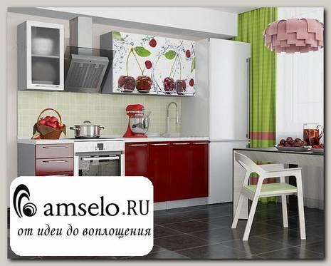 "Кухня 1,6 ""Бруско""(МДФ)(Вишня)"