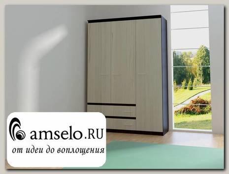 "Шкаф 3-дверн. 1,5 ""Оливия"" (Венге/Сосна астрид) D/Vn"