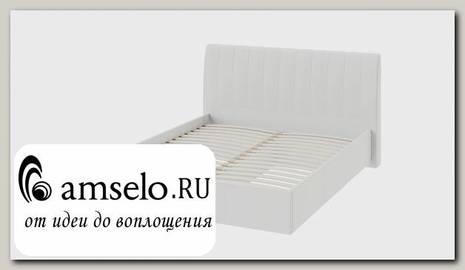 """Кровать мягкая 1600 """"Celeste"""" (Экокожа Кашемир Крем/Стекло)"""