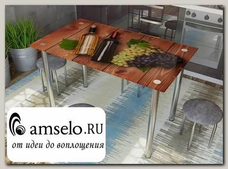"""Стол с фотопечатью 1,2 (wine 1) """"Амели"""""""