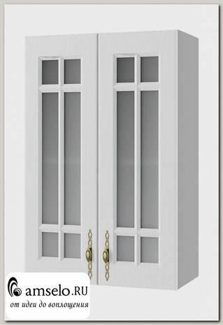 """Шкаф высокий 600""""Лорен"""" (МДФ) (Белый/Стекло)"""