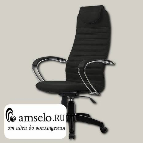 """Кресло K """"Джаспер"""" (Ткань-сетка Черная/Пластик Черный)"""