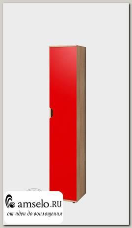 """Пенал 0,4 полки """"Джастин"""" (Дуб сонома/Красный)Gl/Av5"""