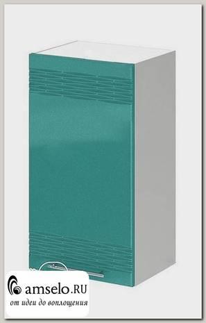 """Шкаф 400 decor """"Бруско"""" (МДФ) (Бирюза металлик) /ИЦMkk/ШВ400"""