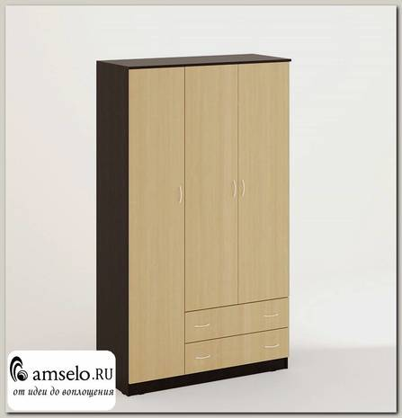 """Шкаф распашной 3-х дверный combinate """"Рики"""" (Венге/Бел.дуб)"""