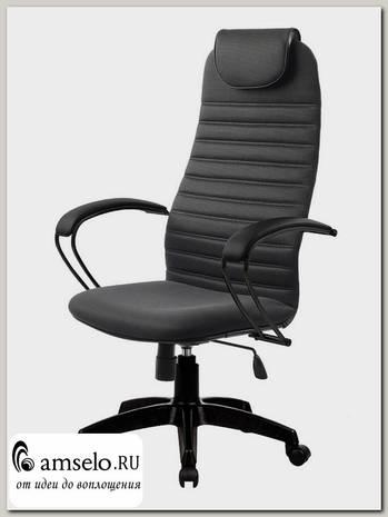 """Кресло """"Джаспер"""" (Ткань-сетка Темно-серая/Пластик Черный)"""