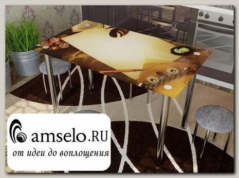 """Стол с фотопечатью 1,2 (table 1) """"Амели"""""""