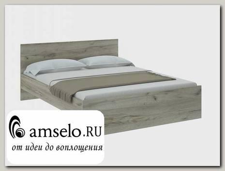 """Кровать 1600 """"Юта"""" (Дуб Серый Крафт)"""