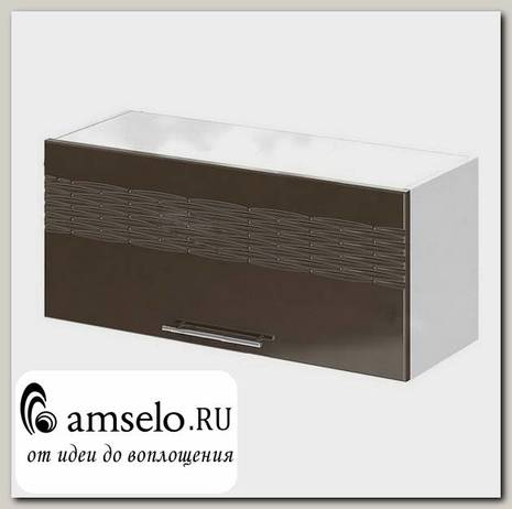 "Шкаф 800 верхнее откр. decor ""Бруско"" (МДФ) (Шоколад) /ИЦMkk/ШВГ800"