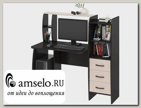 """Стол компьютерный plus """"City"""" (Венге Цаво/Дуб Молочный)"""