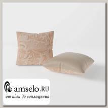Подушка декор. (комплект 2шт.) 42x42 Torta (Велюр Велюр Astrum Desert (AT)/Экокожа Teos Cream (AT))