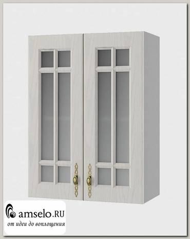 """Шкаф высокий 600""""Лорен"""" (МДФ) (Крем/Стекло)"""