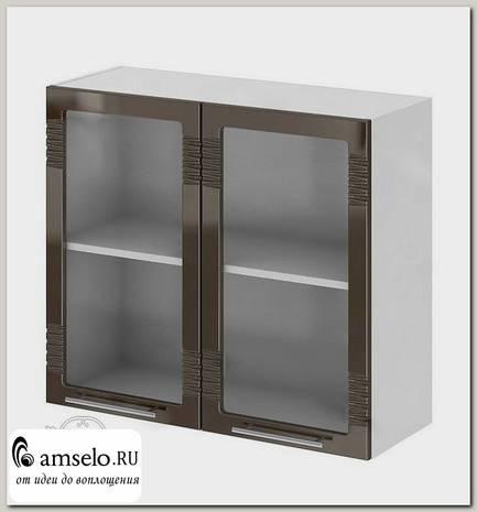 """Шкаф 800 decor """"Бруско"""" (МДФ) (Шоколад/Стекло) /ИЦMkk/ШВС800"""