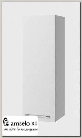 """Шкаф высокий 300""""Лакрима"""" (МДФ металлик) (Белый)"""