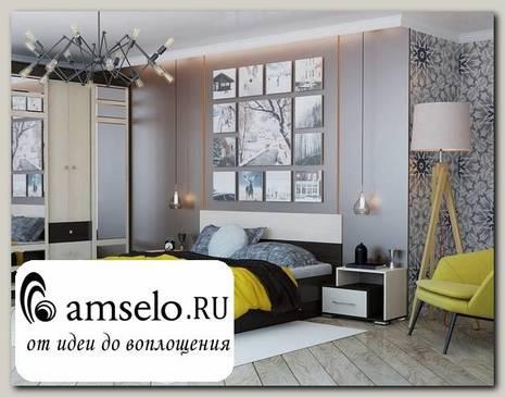 """Кровать 1600 """"Hanny"""" (Венге/Дуб)"""