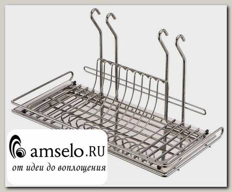 """Навес-рейлинг для посуды 500/240/280 """"Асти"""" (Хром)КМ"""