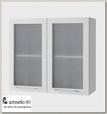 """Шкаф 800 decorazione """"Лакрима"""" (МДФ глянец) (Белый/Стекло)"""