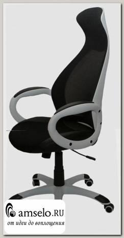 """Кресло """"Энрико"""" (Ткань чёрная сетка/Пластик)"""