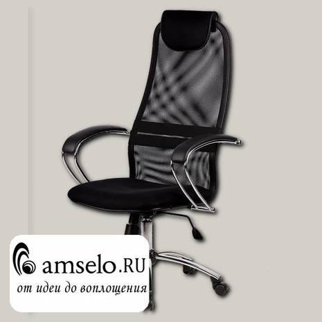 """Кресло K """"Дуглас"""" (Ткань-сетка Черная/Хром)"""
