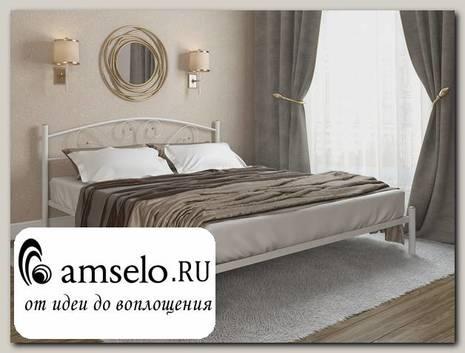 """Кровать 1600 rumba """"Ларго""""(Металл Белый глянец)-MS/Рм"""