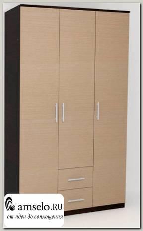 """Шкаф 3-хдв. 1,2 comb """"Сандра"""" (Венге/Венге светлый)"""