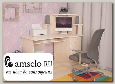 """Стол компьютерный """"Лаворо"""" (Выбеленный дуб)"""