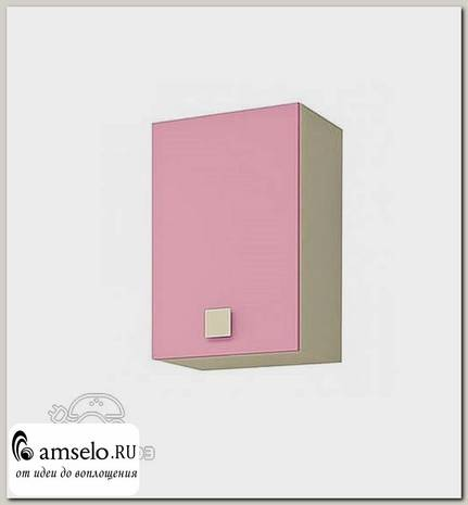 "Шкаф навесной 0,4 ""Benito"" (Бежевый/Фламинго)"