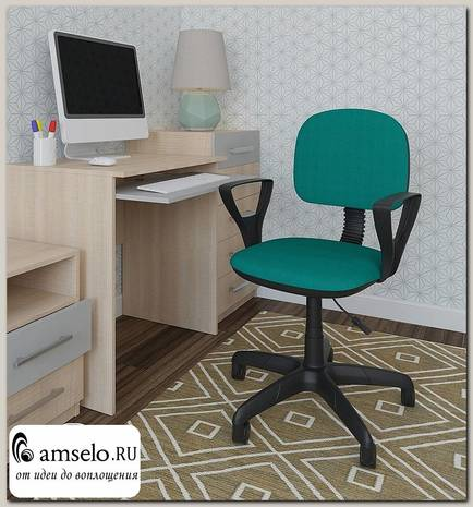 "Кресло ""Томи"" (Ткань зелёная/Пластик) А-Фм2"
