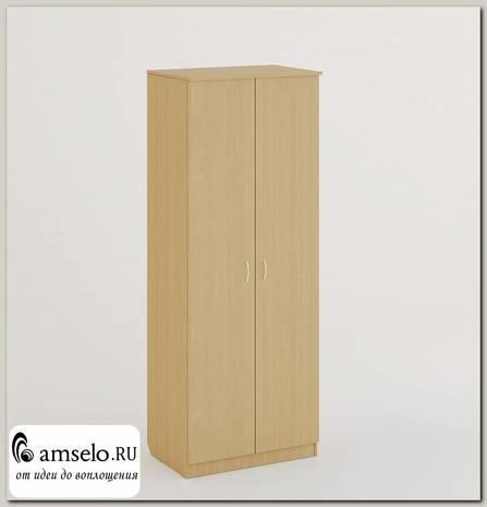 """Шкаф распашной 2-х дверный штанга/полки Биг-Бен """"Рики"""" (Белёный дуб)"""