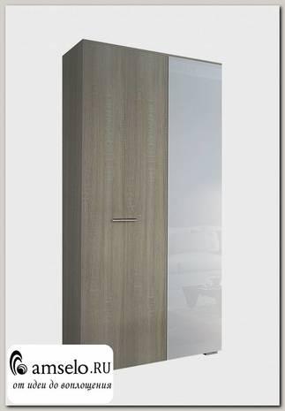 """Шкаф 2х-дверн. """"Айленд"""" (МДФ)(Дуб Сонома/Белый глянец)"""