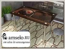 """Стол с фотопечатью 1,2 (wine 2) """"Амели"""""""