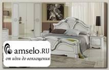 """Кровать 1600 """"Тоскана"""" (МДФ) (Белый/Серебро/Шелкография) MrGr"""