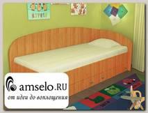 """Кровать с ящиками simple """"Кьюза"""" (Вишня оксфорд) VITA/СФ2"""