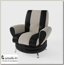 Кресло Torta (Рогожка Alba Cream (AT)/Экокожа Marvel Black (AT))