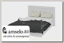 """Кровать 1400 plus """"Argento""""(МДФ)(Белый глянец /Экокожа Белая)"""