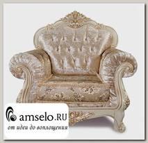 "Кресло Classico ""Мона Лиза"" (Бархат/Жаккард/Патина Позолота/Крем)"