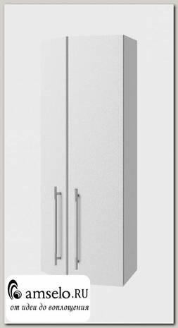 """Шкаф высокий торцевой 400 правый""""Лакрима"""" (МДФ металлик) (Белый)"""