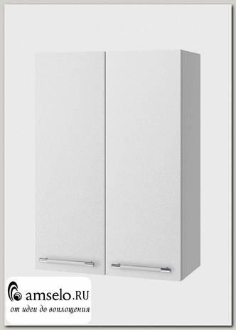 """Шкаф высокий 600""""Лакрима"""" (МДФ металлик) (Белый)"""