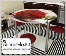 """Стол с фотопечатью D_0,9 (flowers 22) round """"Амели"""""""