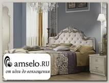 """Кровать 1600 luxe """"Агата"""" (МДФ) (Белый) MrEl"""