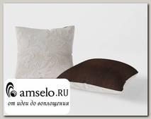 Подушка декор. (комплект 2шт.) 42x42 Torta (Велюр Astrum Besee (AT)/Велюр Shaggy Chocolate (AT))