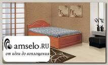 """Кровать с ящиками 1200 elegante """"Наоми"""" (МДФ) (Вишня)"""