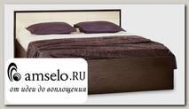 """Кровать 1400 с ортопед.осн-ем """"Вивьен"""" (Венге/Винилкожа Топлёное молоко)"""